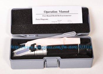Free shipping ,12PCS Portable Refractometer Salinity Meter ATC for Marine Aquarium