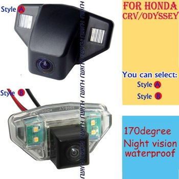 wireless/wire Car Rear camera reverse parking assistance for HONDA CRV FIT hatchback (2C) ODYSSEY 2009 2011 2013