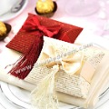 Quality Guarantee with LOW Price + Free Shipping, 200 pcs/lot Ivory Pillow Shape Favor Box
