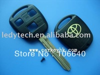 Toyota 3 buttons shell Toy47 blade key fob blank cover case