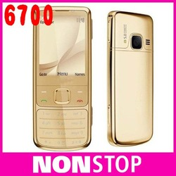 Original Nokia 6700 Classic Gold Cell Phone Unlocked GPS 5MP 6700c Russian Keyboard Free Shipping(China (Mainland))