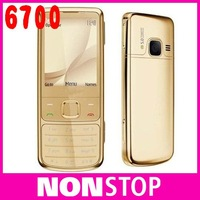 Original Nokia 6700 Classic Gold Cell Phone Unlocked GPS 5MP 6700c Russian Keyboard Free Shipping