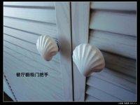 12pcs lot free shipping\Porcelain shell cartoon cabinet knob\zinc alloy base chrome plated\furniture knob\furniture handle