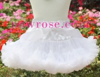 PETTISKIRTS girls mini skirts white chiffon fluffy pettiskirt kids tutus baby mini dress