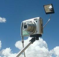 Polaroid Camera Extender Self Portrait Handheld Monopod With Mirror