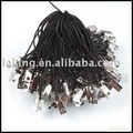 300pcs/lot New Black Cellphone Lariat Lanyard Cords Mobile Phone Straps Square Connector 55mm 130226