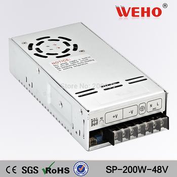 (SP-200-48) 110V 220V input CCTV/Camera PFC function 48V 4.2A DC 200W cctv switching power supply 48v