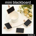 WHOLESALE NEW Cute Small Wooden blackboard Clip Mini board Message folders Fashion Style creative Gift 60Pcs/Lot Say Hi XL 04212