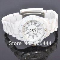 New SOKI White Quartz Analog Womens Ladies Wrist Plastic Band Watch W072