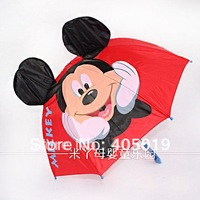 Free Express 3d Mickey Mouse Cartoon Children Ear Umbrella Parasol Mixable w/ Minnie Kitty Thomas Butterfly Lion Princess etc