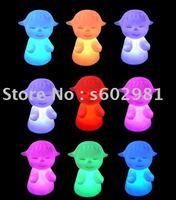Free Shipping! 20PCS per lot Changing Colors  LED novelty lamp! Somnambulate girl led light