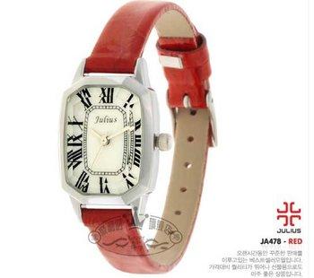 Free Shipping Julius Women's Wrist Watch Leather Belt Square JA-478