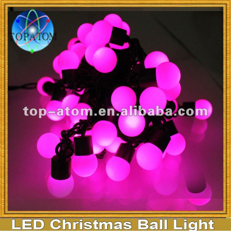 Free shipping Wholesale and retail Pink waterproof LED Christmas ball Ornament with 110/220v input(China (Mainland))