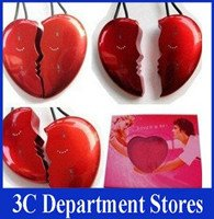 Freeshipping 2GB A Pair of Lovers Heart Shaped MP3 Players(China (Mainland))