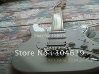 brand new white st richie sambora electric guitar STRA inlay guitars free shipping