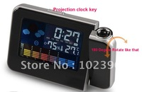 2011 New Design Phone shape Sound controlled back light projection clock alarm clock hot sale ,good quality