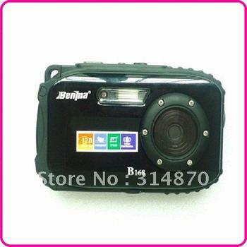 "waterproof 2.7"" TFT screen,10m underwater 14 mega 8x zoom digital camera Free shipping"