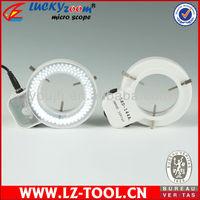 Free Shipping ! 144LED Light  Microscope LED illumination + adaptor