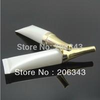 10ml white soft tube with gold lid  , EYE CREAM TUBE
