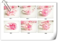 Wholesale 24pcs/lot Mixed Style Girls Flower headband,Flower hairband for Girl,Hair accessory,Freeshipping