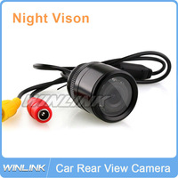 Wholesale 10pc/lot 9 LED Night Vision Color Parking Assistance Reversing Car Rear View Camera