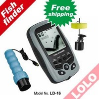 free shipping 16 Levels Grayscale, fish finder, two sensors portable fishing tackle