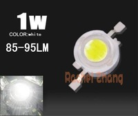 free shipping 100pcs 1W White Super bright 85-95LM 6000-6500k 350mA High Power LED