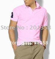 men's Top quality polo Shirts MIX 100% poloshirt cotton casual embroidery logo European style polo clothing