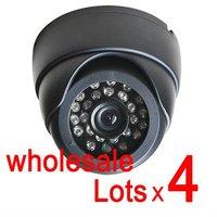 Free shipping wholesale 4pcs SONY CCD HD 420TVL cctv IR Day Night surveillance security  dome camera