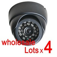 Free shipping wholesale 4pcs SONY CCD HD 420TVL cctv IR Day Night surveillance security  dome camera