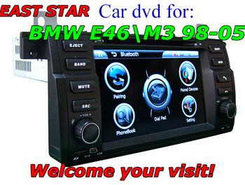 car dvd system for BMW E46 M3 with GPS radio usb sd mp3 mp4 bluetooth ipod gps dvb-t canbus 2pcs/lot ES-1745