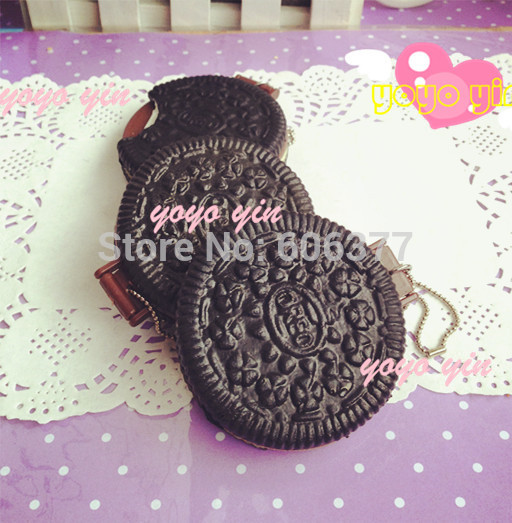 Cute Oreo Cookies Squishy Makeup Mirror,Portable Pocket Makeup Cosmetic Mirrorkey Chain Straps(China (Mainland))