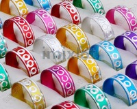Free Shipping Wholesale Mixed Lots 3000pcs colorful Aluminum Ring Jewelry rings Fashion Jewelry
