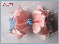 free shipping 150pcs 5.5'' big ring hair bows girl hair accessories popular popular hair clips