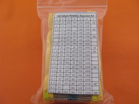 1/4W Metal Film Resistor Samples kit ,148ValuesX25pcs=3700pcs,  free shipping #1054