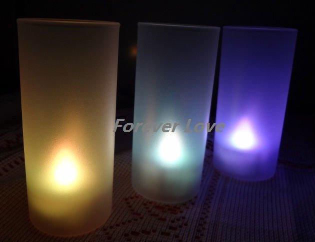 Hot sell 12 SET WHITE Tea Light LED candle&Holder Lamp Wedding Decoration wholesale price(China (Mainland))