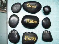 free shipping 9pcs packing hot sell Massage stones,massage stone set,hot spa rock,basalt stone
