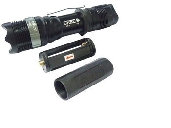 freeshipping 5pcs/lot High Power CREE LED 7W Q5 Zoomable Flashlight SA-9 18650 AAA torch light