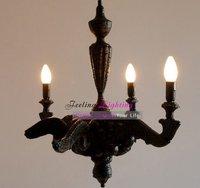 Free Shipping Wholesales Modern Marten Baas Smoke pendant lamp Poly,Resin Chandelier Suspension 3 Light Dia 68cm Black