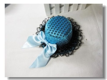 mini top hat fascinator,lace hair clips,with formal dress in horse racing or cocktail party  free shipping