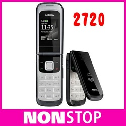 full set 2720 Unlocked Original Nokia 2720 cell phone wholesale in stock one year warranty(China (Mainland))