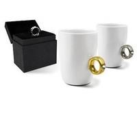 1pcs New Novelty items Elegant Austria Crystal Diamond Ring Ceramic Cup Valentine's Gift Mugs Cute Couple Mugs