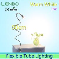 50cm Long Tube Warm white LED desk lamp Clip style with plug AC85-265V 3W High Power