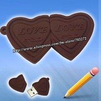 freeshipping 5pcs/lot Sufficient capacity 8GB/4GB/2GB Love Chocolate Shaped USB Flash disk Drive
