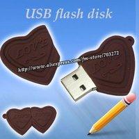 freeshipping 10pcs/lot Sufficient capacity 8GB/4GB/2GB Love Chocolate Shaped USB Flash disk Drive