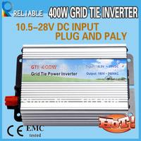 400w grid tie inverter for home use 10.5-28V DC input voltage and 120V/230V AC output solar on grid inverter