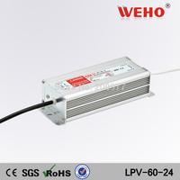 (LPV-60-24) aluminum case IP67 led driver 60W constant voltage 24V waterproof led power supply 24v 60w