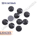 LY10727,Wholesale DMC Hotfix Flatback Glass Rhinestones Beads ss16 Jet black 1440pcs/bag CPAM free Use for Garment Accessories