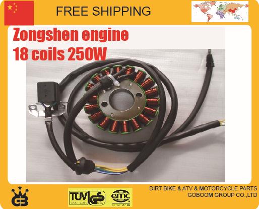 CB250 zongshen magneto stator Motorcycle 250cc ENGINE 12v 18 coils free shipping(China (Mainland))