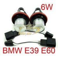 E39-6W Xenon White LED Marker Angel Eyes for BMW E39 E53 E60/E61 E63/E64 E65/E66 E87 free shipping